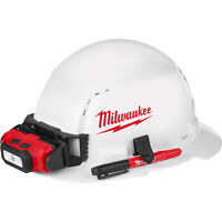 Milwaukee Full Brim Vented Hard Hat w/ Ratchet Suspension & BOLT Access — White