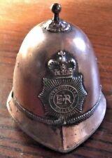 VINTAGE LONDON METROPOLITAN ER POLICE BOBBY HAT BELL