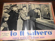 Fotobusta Cinema  IO TI SALVERO'  Ingrid Bergman-Gregory Peck
