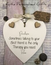 PERSONALISED SHABBY CHIC BEST FRIEND HEART PLAQUE*ANY OCCASION*KEEPSAKE GIFT