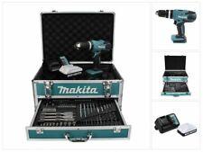 Neuwertig: Makita HP 457 DWX4 Akku Schlagbohrschrauber 18 V Bit Bohrer Set