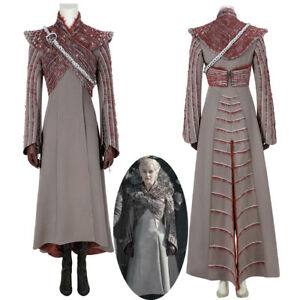 Game of Thrones Season 8 Daenerys Targaryen Cosplay Costume Coat Outfit