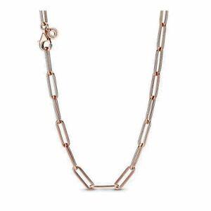 Genuine PANDORA ROSE GOLD LONG LINK NECKLACE CHAIN 45cm RRP £175 ALER .