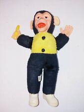 "Vintage 16"" Rubber Face Monkey Banana Mr. Bim Monkey Zippy Stuffed Plush"