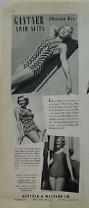 1938 Gantner women's swimsuits with floating bra vintage fashion ad