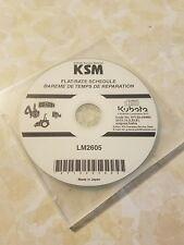 Kubota Workshop Manual on CD LM2605 9Y132