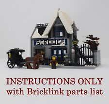 Winter Village Scrooge's INSTRUCTIONS ONLY for LEGO (Victorian Christmas Carol)