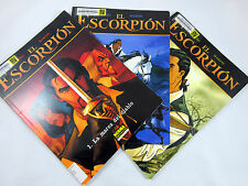 El Escorpion Comic Book Lot 1 2 3 Spanish Desberg Marini