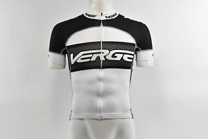 Verge Men's Primo Euro S/S Cycling Jersey, White/Carbon/Black, M, Brand New