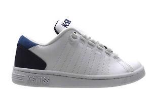 K-Swiss Lozan III Tt Blanc Eclipse Brunner Bleu Chaussures Baskets 85398 168 M