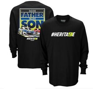 "2020 Chase & Bill Elliott  "" Like Father Like Son #HERITAGE - Long sleeve Tee XL"