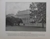 1896 London Stampa + Testo The Royal College Di Chirughi