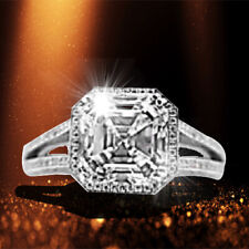 Asscher, 2.20 Micro Setting Side Set Brilliant Gia Certified 3.03 Ct H Vs1
