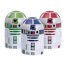 Star Wars Set of 3 Droid Storage Canisters - R2D2 - Official Merchandise