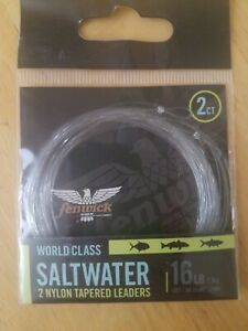 World Class Saltwater 2 Nylon Tapered Leaders 16lb Fishing