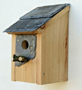 Bird House Nesting Box Welsh Slate roof 32 mm Hole sparrow great tit