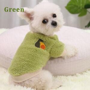 Pet Dog Cat Warm Fleece Vest Clothes Coat For Puppy Sweater Winter Apparels 2xl
