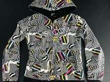 Volcom Womens Hoodie Size XS Full Zip Retro 90s Style MultiColor Embroidered 1B