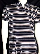 NEU ! ETRO MILANO Herren POLO SHIRT camiseta L Baumwolle cotton blau grau weiß
