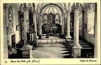Mont Ste. Odile Odilienberg Elsass s/w AK 1941 datiert Eglise du Convent Kirche