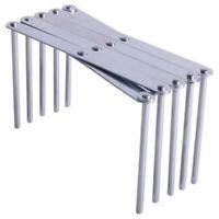2X(Kitchen Organizer Stainless Steel Pot Lid Dish Holder Rack Steamer Shelf m9u