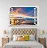 3D Sunlight Clouds 052 Open Windows WallPaper Murals Wall Print AJ Carly