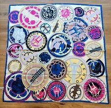dbac4e4fa73 NWOT KENZO 100% Silk Scarf Foulard - Bold Circle Design - Navy Lilac