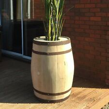RECYCLED SOLID OAK WINE BARREL PLANTERS