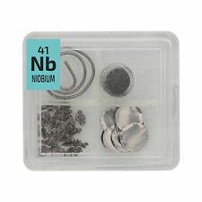 Niobium Metal Wire Powder Crystal Foil Quad Element Tile Pure - Periodic Table