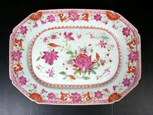 Antique Chinese Export Famille Rose Fine Porcelain Platter