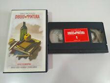 Curso Practico de Dibujo y Pintura Oleo Acuarela - VHS Cinta Tape Español - 2T