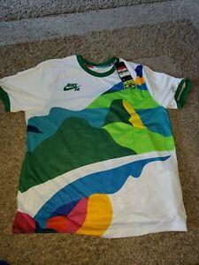 Nike Brazil SB x Parra Olympic Team Skate Jersey Size, Men's large