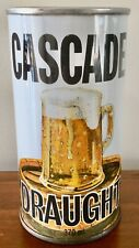 Cascade Draught 370ml.Straight Steel. Beer Can.