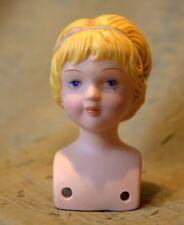 #7# nice vintage small bisque porcelain doll head shoulderhead