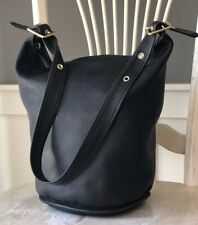 New ListingCoach Classics Collection Ltd Ed Black Leather Xlrge Duffle Sac Bucket Bag 17998