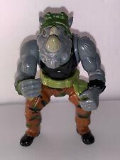 """Vintage 1988 TMNT Teenage Mutant Ninja Turtles Rocksteady Action Figure 5"""" Used"""