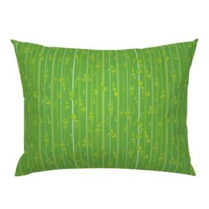 Mod Retro Stripe Bubble Modern Classic Funky Pillow Sham by Roostery