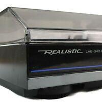 Realistic Radio-Shack LAB340 Belt-Drive Automatic Turntable Record Player Black
