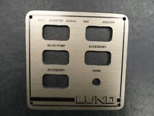"LUND BLANK ACCESSORY PANEL BLACK BRONZE 5 7/8"" X 5 3/4"" MARINE BOAT"