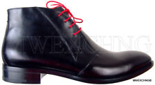 CESARE PACIOTTI US 9.5 HORSE SKIN LACED ANKLE BOOTS ITALIAN DESIGNER MENS SHOES