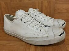 RARE🔥 Jack Purcell Converse White Leather Laced OX Sneakers Cork Insoles Sz 11
