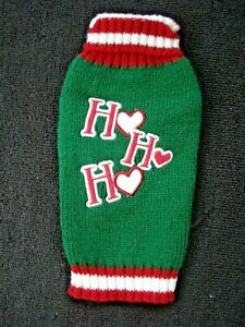 Simply Dog Green Dog Sweater Ho Ho Ho  Size XX Small NEW