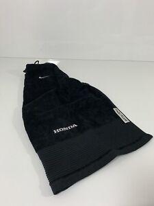 "Genuine NIKE GOLF Black Tri-Fold ""Honda"" Branded Face/Club Towel - New"