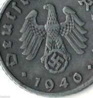 Rare Very Old Vintage WW2 WWII German Military Germany Great War Collection Coin
