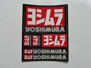 Yoshimura Muffler Silencer Exhaust Pipe Sticker Decal Sheet 4.25x5.25 KTM CRF YZ