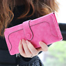 Woman Long Wallet Suede Leather Wallets Coin Purse Card Holder Clutch Handbag US