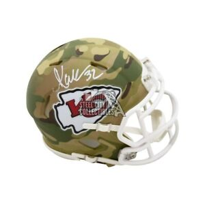 Marcus Allen Autographed Kansas City Chiefs Camo Mini Football Helmet - BAS COA