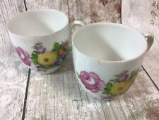 Dresden Miniature Floral China Cups Coffee Cans