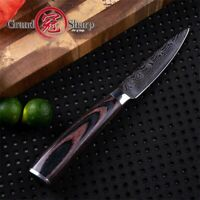 3.5 Inch Paring Knife Laser Damascus Pattern Stainless Steel Kitchen Knives