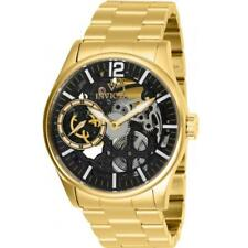 Invicta Vintage 27566 Men's Round Analog Skeleton Gold-Tone Mechanical lWatch